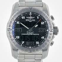 Breitling Cockpit B50, Mens, Black Titanium, EB5010, Like New,...