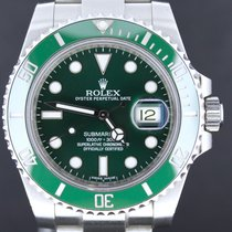 Rolex Submariner Steel Date Green 'Hulk' Full Set 2013...