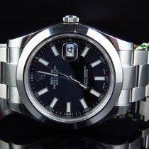 Rolex Mens New 41 MM Black Stick Dial Rolex DateJust II 2...
