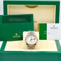 Rolex Unworn Datejust 36mm SS Jubilee Silver Diamond Anniversary