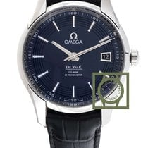 Omega De Ville Hour Vision 41 blue dial leather