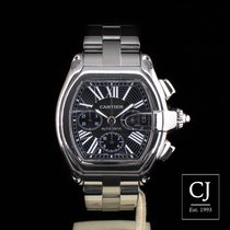 Cartier Roadster Stainless Steel Black Dial XL Chronograph Chrono