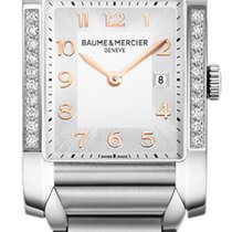 Baume & Mercier Ladies M0A10023 Hampton steel diamond watch