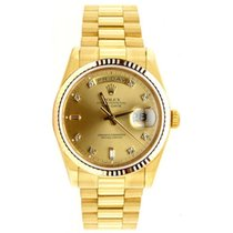 Rolex President Mens Like New SQ Model 18038 18K Yellow Gold...