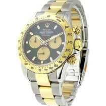 Rolex Used 116523 Daytona 2-Tone with Black Paul Newman Dial...