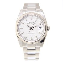 勞力士 (Rolex) Oyster Perpetual Date White Gold And Steel White...