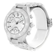 Cartier Must 21 Chronoscaph White Ruber Unisex Watch W10184u2
