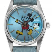 Rolex Oyster Precision Date Mickey Mouse Stahl Handaufzug 35mm...