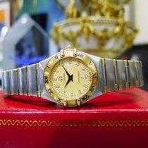 Omega Constellation 18k Gold Stainless Steel Diamond Quartz Watch