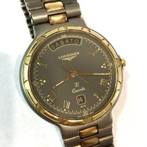 Longines Conquest 18k Yellow Gold & Titanium Men's...