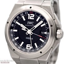 IWC Ingenieur Dual Time Ref-IW 324402 Stainless Steel Box...