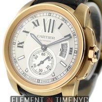 Cartier Calibre Collection Calibre 18k Rose Gold Silver Dial