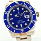 Rolex Submariner Weissgold Blau Blue Bleu Ceramik Full Set 2013