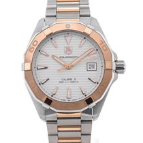 TAG Heuer Aquaracer Automatic 40,5 Silver Dial Red Gold...
