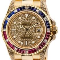 Rolex GMT-Master II YG Pepsi Bezel Diamond Custom 116718LN