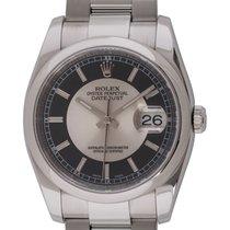 """Rolex - Datejust : 116200 black & silver """"tuxedo""""..."""