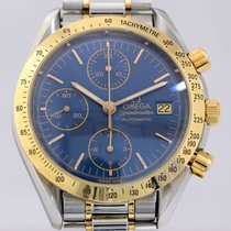 Omega Speedmaster Date Chronograph blue Dial Stahl Gold Luxus...