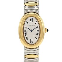 Cartier Baignoire en or jaune 14k et acier Vers 1990