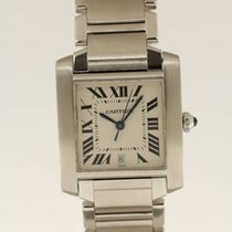 Cartier Tank Française from 1999 LIKE NEW complete with box +...