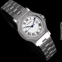 Cartier Santos Octagon Godron Mens Midsize Watch, Automatic