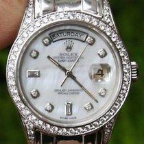 Rolex 18k White Gold Day-date Pres Masterpiece Diamonds