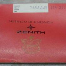 Zenith vintage red warranty booklet watch gold rare
