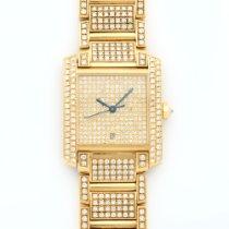 Cartier Tank Francaise Yellow Gold Full Diamond Watch