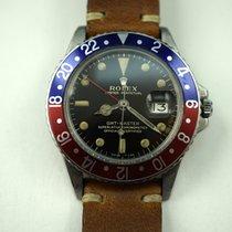 Rolex GMT 1675 Rare stainless steel c.1966 original gilt dial