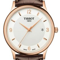 Tissot Dream White Dial Mens 18 Carat Rose Gold Watch T914.410...
