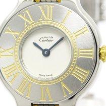 까르띠에 (Cartier) Polished Cartier Must 21 Gold Plated Steel...