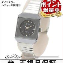 ラドー (Rado) 【ラドー】ダイヤスター レディース腕時計クォーツ SS シルバー×ブラック文字盤デイト QZ【中古】