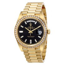 Rolex Oyster Perpetual Day-Date Black Dial Automatic Men's...