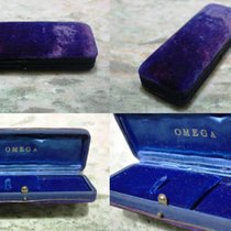 Omega rare vintage watch box steel and gold models 321 and cosmic