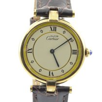 Cartier Vendome Must De Cartier Damen Uhr 925 Silber Vergoldet...
