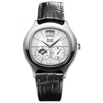 Piaget Emperador Coussin Silver Dial Black Leather Automatic...