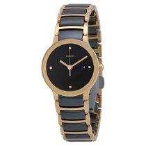 雷达 (Rado) Rado Ladies Centrix Jubile Ceramic Rose Gold-tone Watch