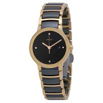 Rado Ladies Centrix Jubile Ceramic Rose Gold-tone Watch