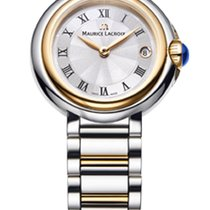 Maurice Lacroix Fiaba. Roman Index, Silver Dial, Gold Plated...