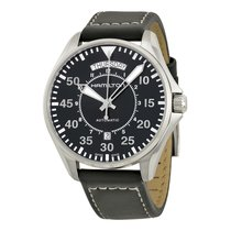 Hamilton Men's H64615735 Khaki Aviation Pilot Day Date Auto