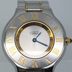 Cartier MUST 21 FULL GOLD PLATED/STEEL LIKE NEW