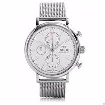 IWC Portofino Chronograph IW391009 Stainless Steel Silver Dial...