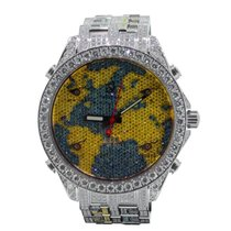 Jacob & Co. The World Is Yours Stainless Steel & Diamonds