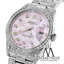 Rolex Diamond Rolex Date15200  34mm Pink Flower Diamond Dial...