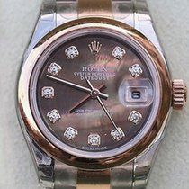 Rolex Ladies Datejust Two Tone Tahitian Black Mother-of-pearl...