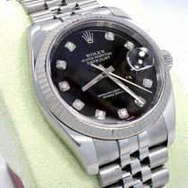 Rolex Datejust 116234 36mm 18k White Gold Bezel Factory...