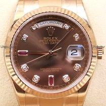 Rolex Day Date, Ref. 118235 - braun Rubin Diamant ZB/Oysterband