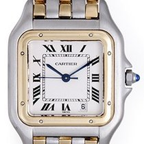 Cartier Men's Cartier 3-Row Panther 2-Tone Steel &...
