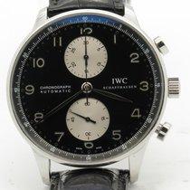IWC Portuguese 3714 Black Panda Dial Chronograph Automtic Mens...
