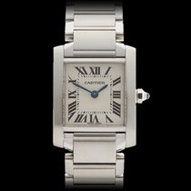 Cartier Tank Francaise Stainless Steel Ladies 2384 or W51008Q3