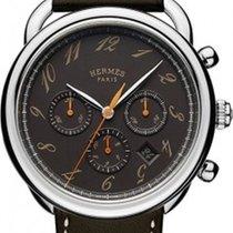 Hermès Arceau Black Dial Automatic Men's Chronograph Watch